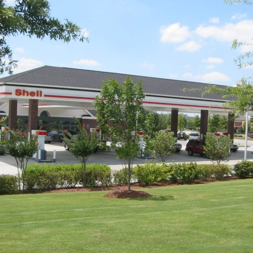 Shell Station commercial landscaping by SKB Industries