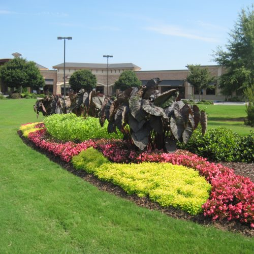 central floral installation