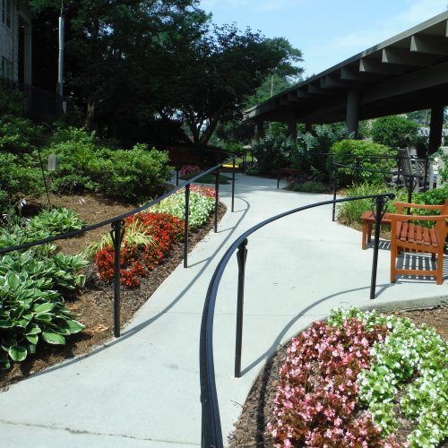 floral design for walkway