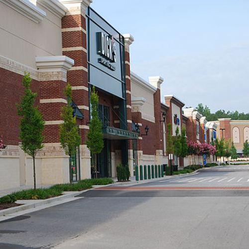 Landscaping outside of Dick's Sporting Goods
