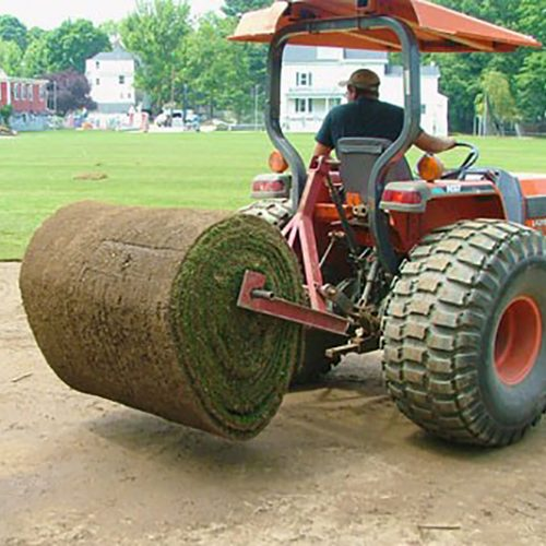sod installation tractor