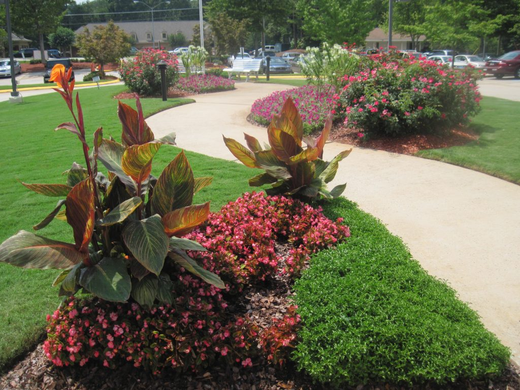 Commercial Flower Bed